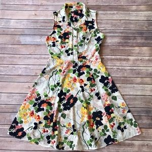 BANANA REPUBLIC - Floral A-line Collared Dress